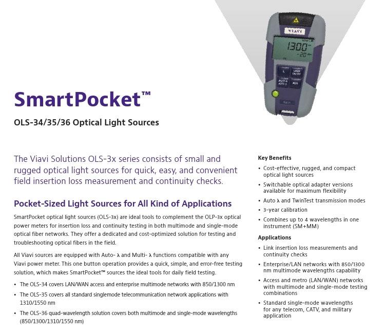 Ltd  DBN – SmartPocket™ OLS-34/35/36 Optical Light Sources